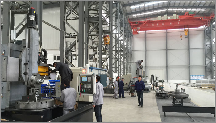 China Vertical Lathes is being installed